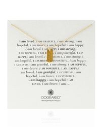 Dogeared | Metallic Gold-Dipped I Am Grateful Dogtag Necklace | Lyst