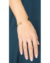Kacey K - Metallic Kk Open Inital Bracelet - R - Lyst