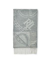 Ralph Lauren | Gray Bridle Wool Scarf | Lyst
