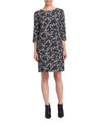 Ellen Tracy - Black Floral Print Shift - Lyst