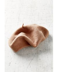Urban Outfitters - Brown Classic Wool Beret - Lyst