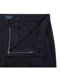 Paul Smith | Blue Men's Navy Slim-fit Washed Cotton-twill Chinos for Men | Lyst