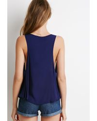 Forever 21 | Blue Scoop Neck Trapeze Top | Lyst