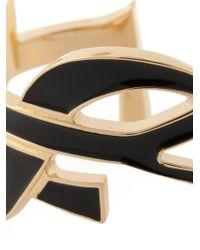 Saint Laurent - Black 'monogram' Bangle - Lyst