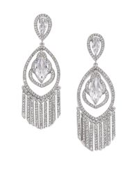 Adriana Orsini | Metallic Embraced Marquis Tassel Chandelier Earrings | Lyst