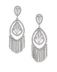 Adriana Orsini - Metallic Embraced Marquis Tassel Chandelier Earrings - Lyst
