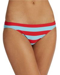DKNY - Blue Striped Triangle Bikini Bralet Swim Top - Lyst