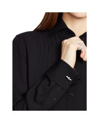 Ralph Lauren Black Label - Black Aston Silk Tuxedo Shirt - Lyst