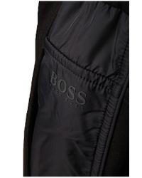 BOSS Green - Black Tracksuit Bottoms: 'hivon' In Cotton Blend for Men - Lyst