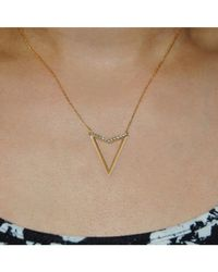 Adornia | Vivi Triangle Necklace Yellow Gold | Lyst