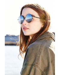 Urban Outfitters - Black Famous Metal Round Sunglasses - Lyst