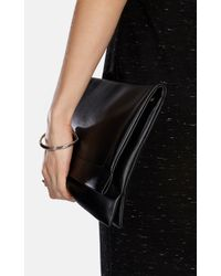 Karen Millen - Metallic Stirrup Double Bangle - Lyst