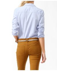Forever 21 - Blue Classic Oxford Shirt - Lyst