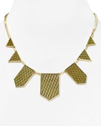 "House of Harlow 1960 - Metallic 1960 Exotic Five Station Necklace, 18"" - Lyst"