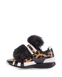 Pierre Hardy - Brown Sneakers With Calf Hair, Leather And Fur - Animal Prints - Lyst