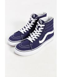 Vans - White Sk8-hi Canvas Sneaker for Men - Lyst