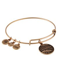 ALEX AND ANI | Metallic Like A Daughter Charm Bangle | Lyst