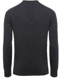 Jules B - Gray Crew Neck Lambswool Sweater for Men - Lyst