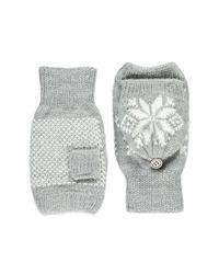 Forever 21 - Gray Fair Isle Convertible Gloves - Lyst