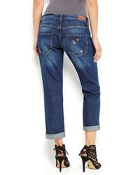 Guess Blue Mid-rise Stretch Denim Power Curvy Skinny Jeans