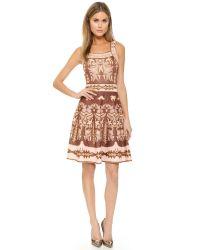 M Missoni | Pink Embroidery Jacquard Dress | Lyst