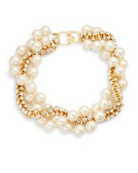 Kenneth Jay Lane | White Sparkle Beaded Wrap Necklace | Lyst