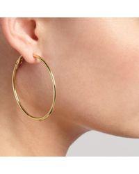 John Lewis - Metallic Hoop Earrings - Lyst
