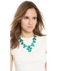 Oscar de la Renta - Blue Carved Resin Necklace - Lyst