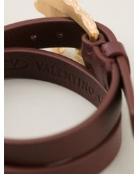 Valentino | Red Unicorn Wrap Bracelet | Lyst