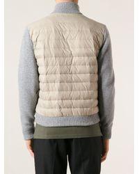 Corneliani - Gray Padded Bomber Jacket for Men - Lyst