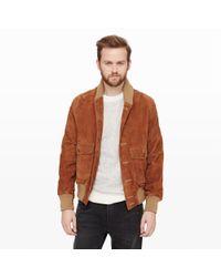 Club Monaco | Brown Golden Bear Suede Jacket for Men | Lyst