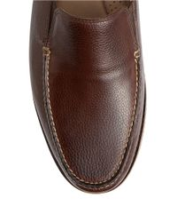 Tommy Bahama | Brown Faxon Leather Moc-Toe Loafers for Men | Lyst