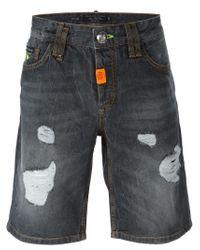 Philipp Plein - Black 'goose' Denim Shorts for Men - Lyst