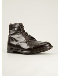 Officine Creative - Brown 'Anatomia' Lace-Up Shoes for Men - Lyst