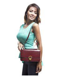 Hermès - Red Preowned Vintage Bordeaux Box Calf Shoulder Bag - Lyst