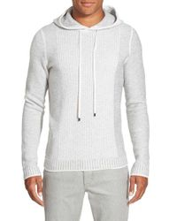 Vince - Gray Trim Fit Wool & Cashmere Knit Hoodie for Men - Lyst