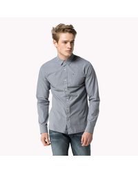 Tommy Hilfiger | Blue Cotton Striped Shirt for Men | Lyst