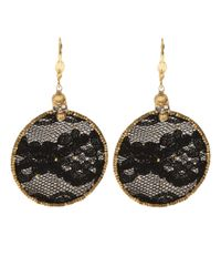 Clemmie Watson | Black Lace Hoop Earrings | Lyst