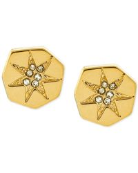 Vince Camuto | Metallic Polygonal Star Pavé Stud Earrings | Lyst
