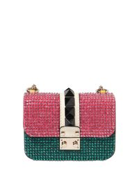 Valentino - Green Small Lock Embellished Leather Bag - Lyst