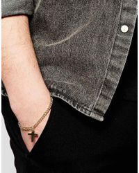 ASOS | Metallic Bracelet With Cross In Gold for Men | Lyst