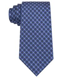 Calvin Klein - Blue Filigree Neats Slim Tie for Men - Lyst