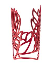 Carven | Red 'Bird' Cuff | Lyst