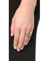 Holly Dyment | Metallic Evil Eye Ring - Gold | Lyst