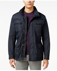 Michael Kors | Blue Michael Big And Tall Field Coat for Men | Lyst