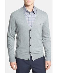 Victorinox | Blue Slim Fit Stretch Cotton Cardigan for Men | Lyst