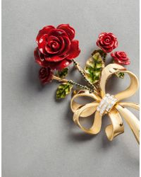 Dolce & Gabbana - Metallic Red Brooch - Lyst