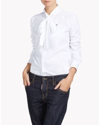 DSquared² | White Bow Shirt | Lyst