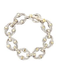 Konstantino - Metallic Mens Silver & Bronze Link Bracelet for Men - Lyst