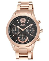 Vince Camuto | Pink Multifunction Bracelet Watch | Lyst